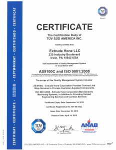 ISO-Extrude-Hone-LLC-AS-9100C-and-ISO-9001-Certificate