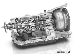 Gearbox from ZF with multiple gears deburred and radiused by Extrude Hone Electrochemical Machining
