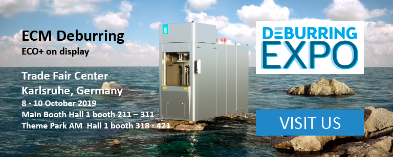 ECO+ Electrochemical Machining equipment by Extrude Hone at the Deburring Expo