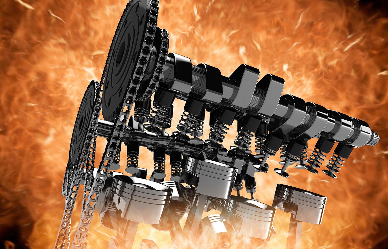 Automotive-Engine-explosion