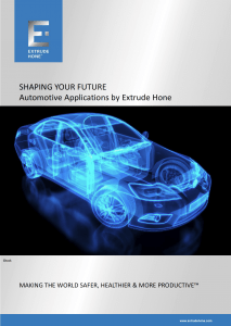 Automotive Applications by Extrude Hone